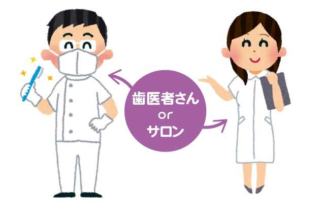 ホワイトニングって歯医者とサロンでは何が違うの?