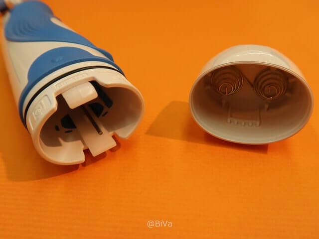 ブラウン オーラルB プラックコントロールの電池交換画像